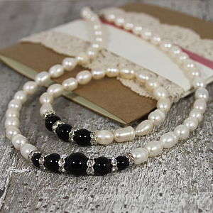Fresh Water Pearl Jewellery Set - bracelets & bangles