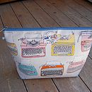Typewriter Wash Bag Large