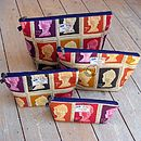 Postage Stamp Wash Bag All Sizes