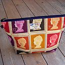 Postage Stamp Wash Bag Large