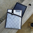 Reefer Sails white recycled sailcloth iPad slip case