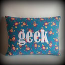 'Geek' Cushion