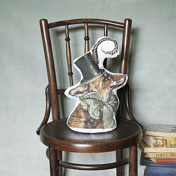Anthropomorphic Fox Reversible Cushion