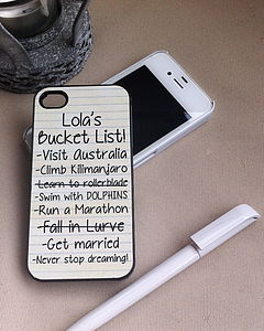 Bucket List Case For IPhone - home