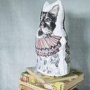 Anthropomorphic Cat Cotton Cushion