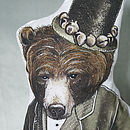Top Hat Bear Cushion