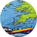 Vintage RNLI Lifeboat Cushion detail