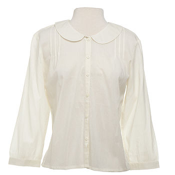 Ella Blouse in Cream