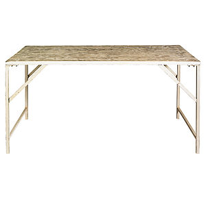 Warehouse Table With Metal Legs By Nordal - dining tables