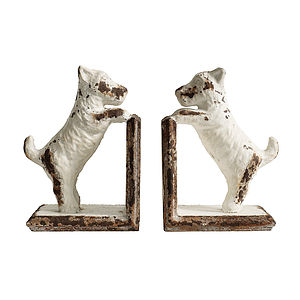 Metal Dog Bookends - bookends