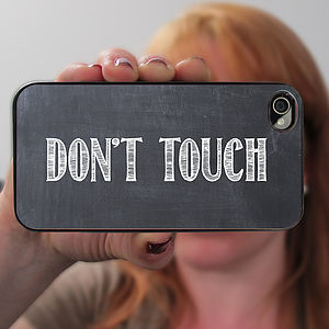 Personalised Chalkboard Case For iPhone
