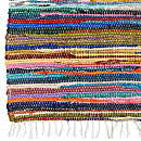 Recycled rag rug multi coloured