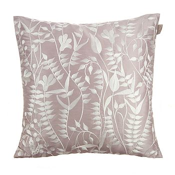 Lola Embroidered Silk Cushion
