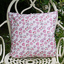 Hearts And Flowers Cushion