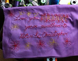 'Dear Granny Or Grandad' Art Hanky - handkerchiefs