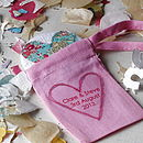10 Personalised Heart Mirror Favours