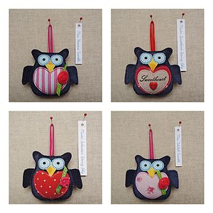 Hanging Owl Decoration One Of A Kind