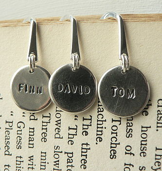 Personalised Silver Bookmarks
