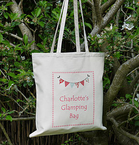 Personalised 'Glamping' Camping Bag - women's accessories