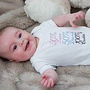 Personalised Babygrow Baby Shower Gift
