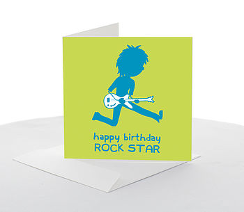 'Rock Star' Birthday Card