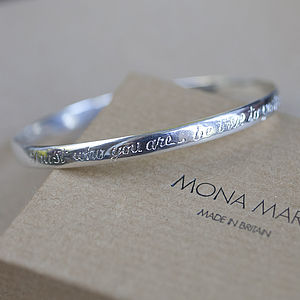 'Trust Who You Are Be…' Silver Bangle