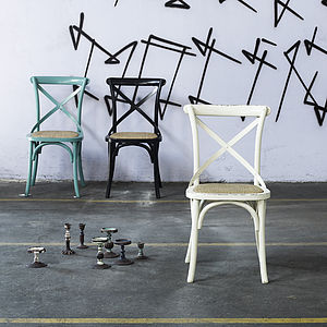 Cross Back Dinner Chair - furniture