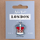 Enamel London Badge