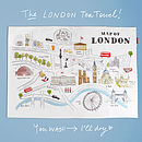 Alice Tait 'Map Of London' Tea Towel