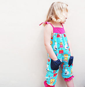 Circus Print Gilrls Romper - all in-ones for babies