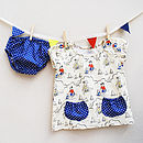 Thumb baby vintage seaside dress set
