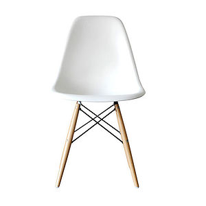 'A Eames Style Dining Chair Set Six