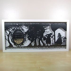 Snow White's Mirror Papercut - children's pictures & paintings