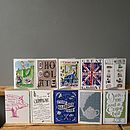 Three Greetings Cards, Choose From 12 Designs