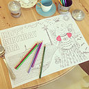 Colour In Pirate Or Princess Placemats X10