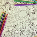 Colouring Christmas Pattern Placemats Pack
