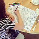 Colouring Christmas Placemats Pack