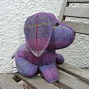 Harris Tweed Dog Doorstop - light purple check