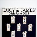Personalised Seating Plan Wedding Chalkboard