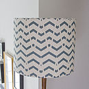 Geometric Chevron Lampshade