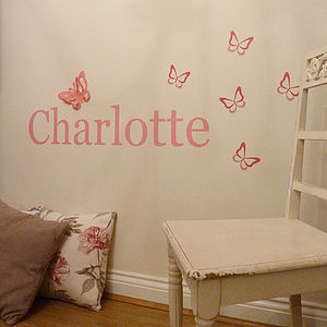 Personalised 3D Butterfly Wall Sticker - decorative accessories