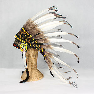 Great Plains Indian Chief Feather Headdress - fancy dress