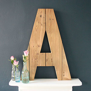 Giant Handmade Reclaimed Wooden Letter Plaque - wall hangings