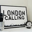 'London Calling' Typography Print