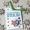 Christmas Handmade Star Badge