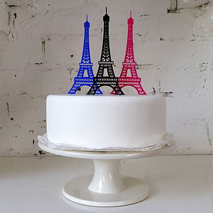 Eiffel Tower Cake Topper - cake decoration