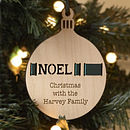 Personalised Christmas Bauble Decoration