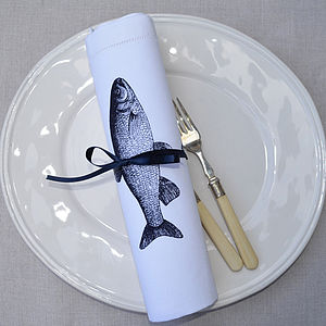 Fish Table Napkin - table linen