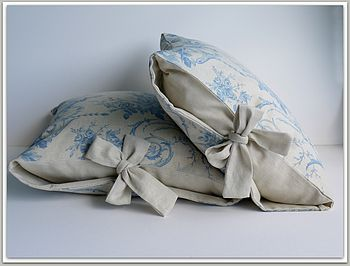 Tuileries Linen Tied Cushion Covers