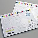 Girl's Handy Alphabet Doodle Pad